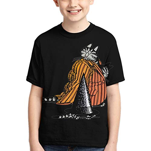 Dumanfs Kliban Cat T-Shirt 3D Print Kids Youth Fashion Tee for Boys and Girls Fashion Tshirts