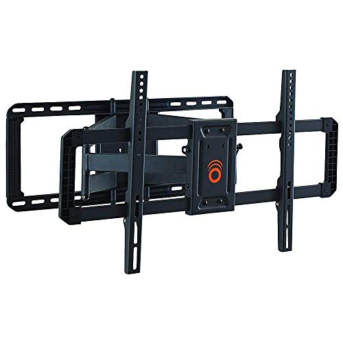 ECHOGEAR Full Motion TV Wall Mount for Big TVs Up to 86' TVs - Smooth Swivel, Tilt, Extension - Universal Design Works with Samsung, Vizio, TCL & More - Includes Drilling Template