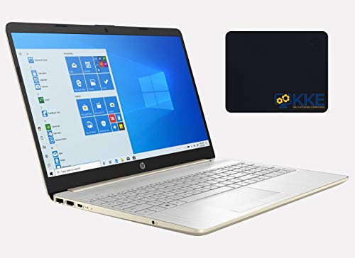 2020 Newest HP 15.6' HD Non-Touchscreen Laptop, 10th Gen Intel Core i5-1035G1 Processor, 32GB DDR4 RAM, 1TB Solid State Drive, Wi-Fi, Online Class, Zoom Meeting, Windows 10 Home, KKE Mousepad, Gold