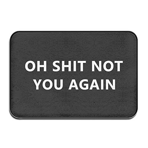 Mejia Funny Humorous Oh Shit Not You Again Area Rug Floor Front Door Mats Entry Carpet Indoor Doormat Outdoor mat 23.6'(L) x 15.7'(W)
