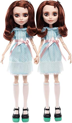 Monster High The Shining Grady Twins Collector Doll 2-Pack, 2 Collectible Dolls (10-inch) in Fashions and Film-Inspired Accessories, with Doll Stands