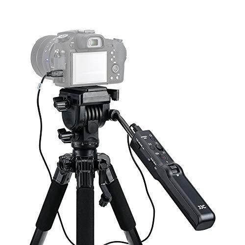 JJC VCT-VPR1 Compact Remote Control Tripod Stand for Sony ZV-1 A7R IV A7 III A7S III A6000 A6600 A6500 A6400 A6300 A6100 RX100 VII RX10 FDR-AX53 AX33 AX43 AX100 AX700 HDR-CX405 CX440 CX455 CX675 CX900