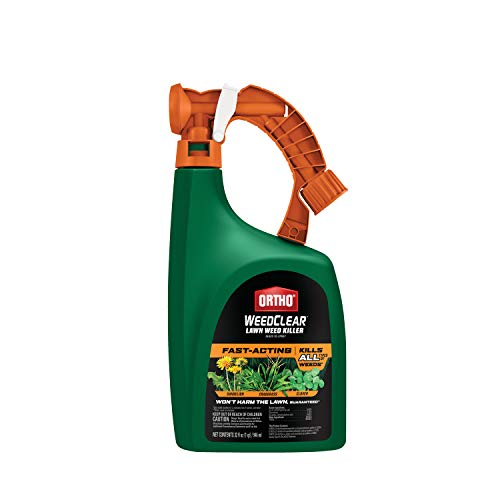 Ortho WeedClear Lawn Weed Killer Ready to Spray - Weed Killer for Lawns, Crabgrass Killer, Also Kills Chickweed, Dandelion, Clover & More, Fast Acting Weed Killer Spray, Kills to the Root, 32 oz.