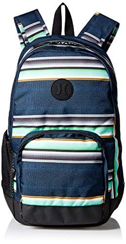 Hurley Men's Blockade Printed Laptop Backpack, black, QTY
