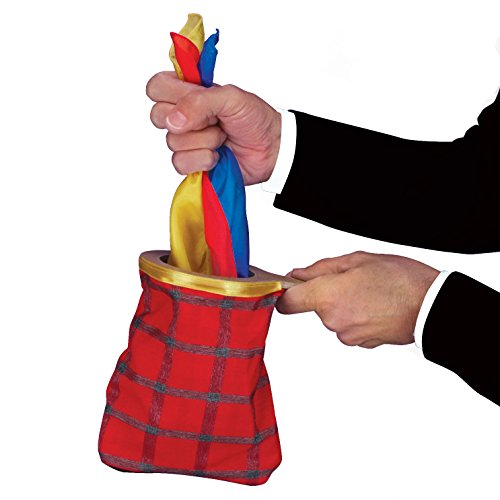 Loftus MW-0036 Empire Magic Handkerchief Change Bag with Zipper 9' Magic Set, Red Multicolors
