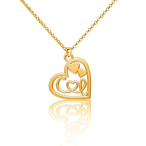 EV.YI Jewels CI Initial Name Necklace Pendants Couples Africa Browning White Forever Mickey