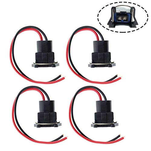 MOTOALL Fuel Injector Connector Plug Clip Pigtail Wiring Harness Wire for TPI LT1 LS1 LS6 RC TRE 4 PACK