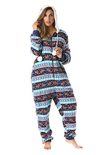 6342-10129-XXL Just Love Adult Onesie / Pajamas,XX-Large,Navy - Reindeer Snow
