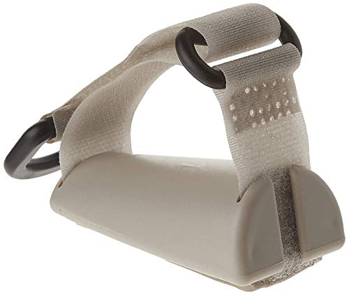 Sammons Preston Plastic Base Utensil Holder Strap, Universal Cuff, Adjustable Gripping Strap for Holding Utensils with Angled Plastic Base for Palm, ADL Eating Aid for Weak Grip & Limited Mobility