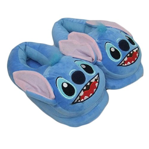 [Newest] Lovely Lilo Stitch Slippers Warm Soft Shoes Homewear for Men Women Stitch Full,Shoes Length:28cm/11.03'