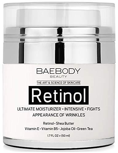 Baebody Retinol Moisturizer Cream with Retinol, Jojoba Oil & Vitamin E, 1.7 Ounces