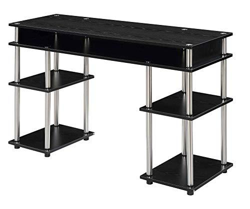 Convenience Concepts Designs2Go No Tools Student Desk, Black