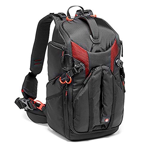 Manfrotto Pro Light 3N1-26 Camera Bag Backpack for Mirrorless, DSLR Cameras, Can Hold 2 Camera Bodies and 5 Lenses, Pocket for 10″ Tablet, for Canon C100 Cameras or Similar