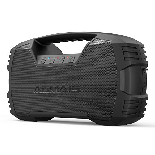 AOMAIS GO Bluetooth Speakers, 40H Playtime Outdoor Portable Speaker, 40W Stereo Sound Rich Bass, IPX7 Waterproof Bluetooth 5.0 Wireless Pairing,10000mAh Power Bank, for Party, Travel(2020 Upgrade)