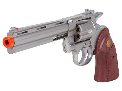 TSD PY-4480-8739 Zombie Killer .357 6' Replica Spring Airsoft Revolver BB Gun, Silver, 6-Inch