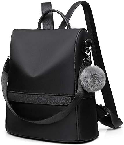 Z-joyee Women Backpack Purse Waterproof Nylon Anti Theft Rucksack Lightweight Travel School Shoulder Bag