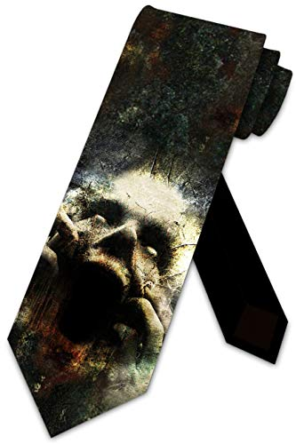 Halloween Ties Mens Zombie Horror Necktie by Three Rooker