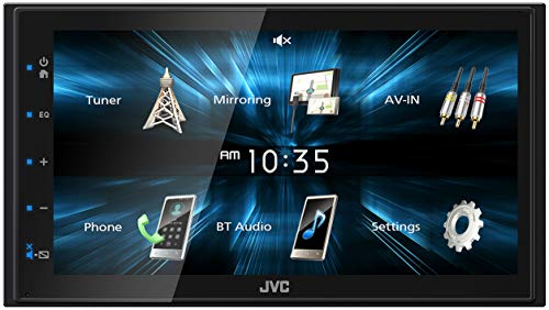 JVC KW-M150BT Bluetooth Car Stereo Receiver with USB Port – 6.75' Touchscreen Display - AM/FM Radio - MP3 Player Double DIN – 13-Band EQ (Black)