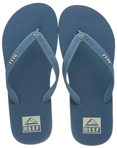 Reef Men's Seaside Flip-Flop, Sky, womens 10