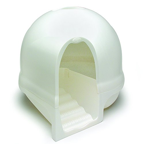Booda Dome Cleanstep Litter Pan Pearl Linen
