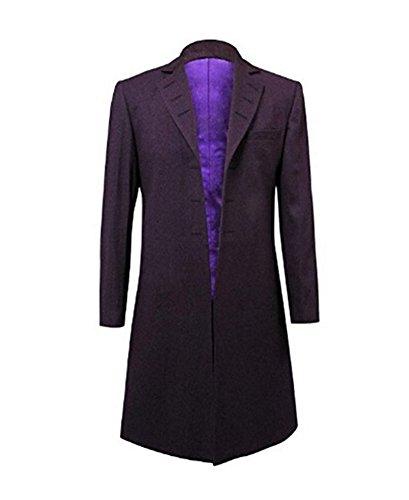 Hello-cos Mens Purple Coat Jacket Cosplay Costume (Man-L, Purple)