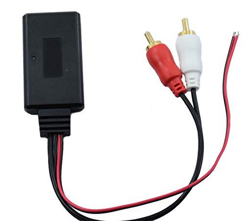 VUWMMNV RCA Bluetooth Adapter GM Bluetooth 5.0 Wireless Adapter with 2RCA Bluetooth Cable Adapter Audio Adapter Car CD Player for Toyota Honda Volkswagen Audi Mercedes Benz Nissan