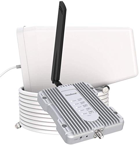 Amazboost A1 Cell Phone Booster for Home -Up to 2,500 sq ft,Cell Phone Signal Booster Kit,All U.S. Carriers -Verizon,AT&T, T-Mobile, Sprint & More-4G 3G 2G LTE FCC Approved