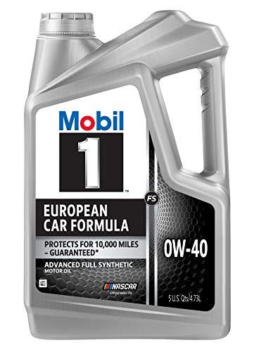 Mobil 1 FS European Car Formula Full Synthetic Motor Oil 0W-40, 5 Quart