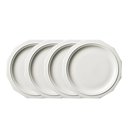 Pfaltzgraff Heritage Dinner Plates (10-Inch, Set of 4), White