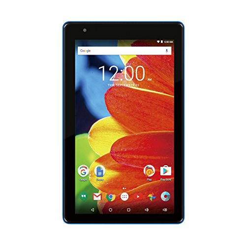 Premium High Performance RCA Voyager 7' 16GB Touchscreen Tablet Computer Quad-Core 1.2Ghz Processor 1G Memory 16GB Hard Drive Webcam WiFi Bluetooth Android 6.0-Blue