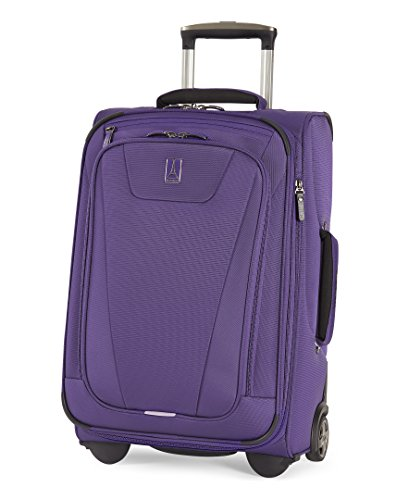 Travelpro Maxlite 4-Softside Expandable Rollaboard Upright Luggage, Purple, Carry-On 22-Inch