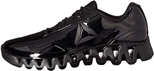 Reebok Men's Zig Pulse Running Shoe, black/black/patent, 12 M US