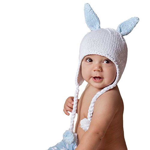 Huggalugs Hugbunny Bunny Rabbit Boys Blue Beanie Hat Size Medium