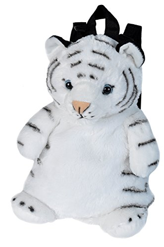 Wild Republic White Tiger Backpack, Mini Backpack, Animal Bag, Kids Gifts, Plush Zoo Animal, 14 Inches, Multi (20884)