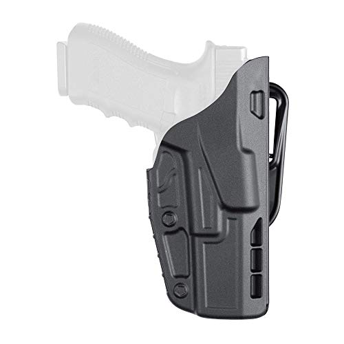 Safariland 7377 7TS ALS Concealment Belt Slide Holster for Glock 19/23 with 4' Barrel Right Hand Plain Black Finish