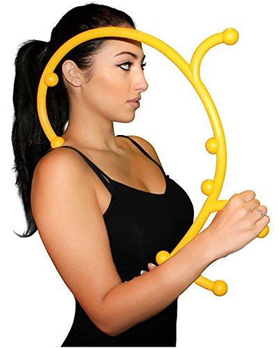Nayoya Back Hook Massager - Patented Full Body Personal Handheld Self Massage Tool for Myofascial Release of Knots and Aches- Deep Tissue Triggerpoint Therapy