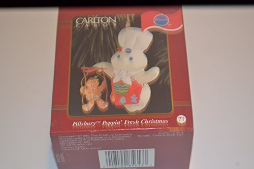 Pillsbury Poppin' Fresh Christmas Ornament (Doughboy Holding Gingerbread Puppet)