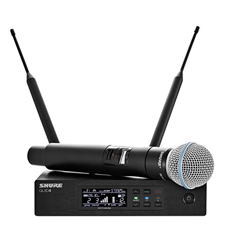 Shure QLXD24/B58 Wireless Microphone System with BETA 58A Handheld Vocal Mic