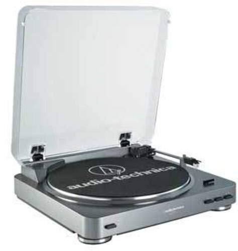 Audio-Technica AT-LP60 Fully Automatic Belt-Drive Stereo Turntable, Silver