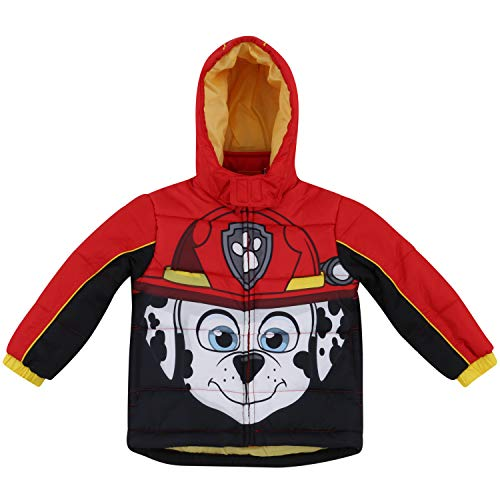 Toddler Boy Paw Patrol Warm Winter Puffer with Hood Jacket Coat 4T
