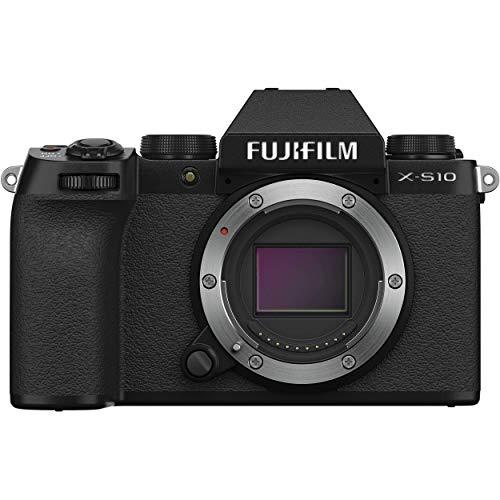 Fujifilm X-S10 Mirrorless Camera Body- Black, X-S10 Body- Black (Renewed)