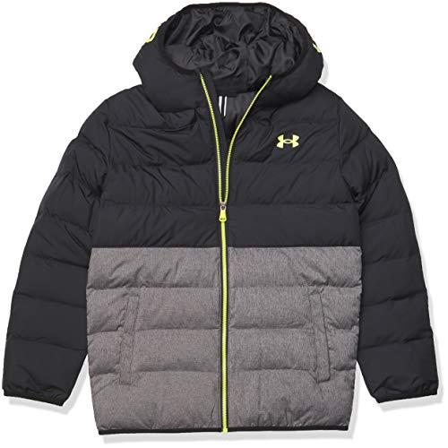 Under Armour Boys' UA Pronto Colorblock Puffer Jacket, Black, 4
