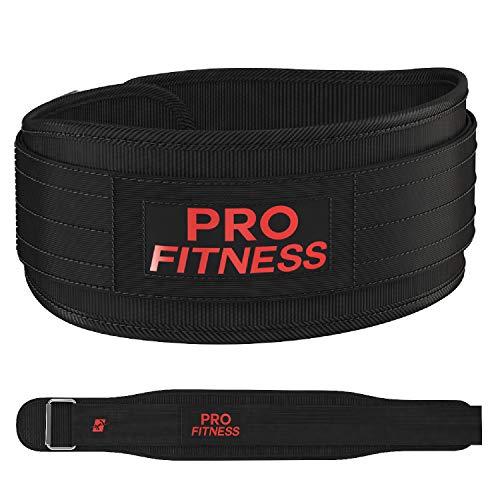 ProFitness Weight Lifting Belt Workout Belt Gym Belt (Medium, Black/Red)