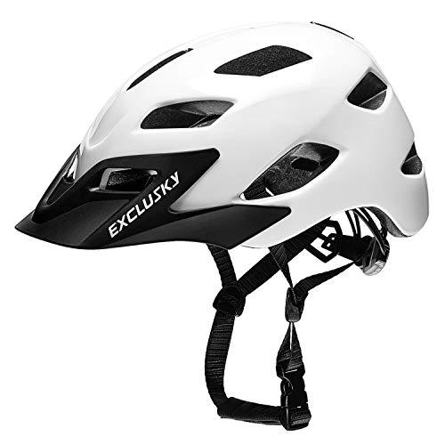 Exclusky Adult Bike Helmet, CPSC Certified Bicycle Cycling Helmets, Adjustable Lightweight Helmet for Urban Commuter Women Men, 22.05-24.01 Inches