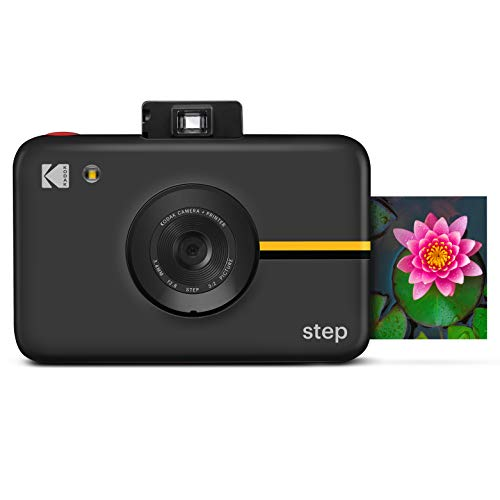 Kodak Step Digital Instant Camera with 10MP Image Sensor, ZINK Zero Ink Technology, Classic Viewfinder, Selfie Mode, Auto Timer, Built-in Flash & 6 Picture Modes | Black.