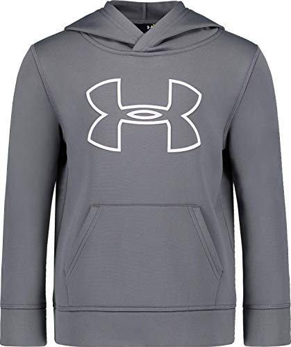 Under Armour Boys' Little Big Logo Hoodie, Graphite H19, 4