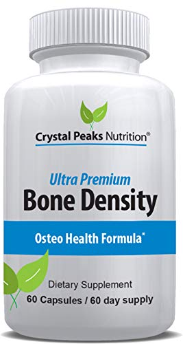 Calcium Carbonate with Vitamin K2 and D3 Cholecalciferol Supplement | Promotes Bone Density, Strength and Health | Crystal Peaks Nutrition | 60 Capsules