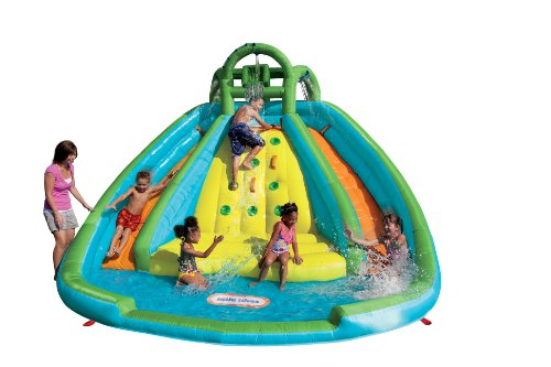 Little Tikes Rocky Mountain River Race Inflatable Slide Bouncer Multicolor, 161.00''L x 169.00''W x 103.00''H --- Weight: 50.00lbs.