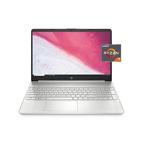 HP 15 Laptop, AMD Ryzen 7 3700U Processor, 8 GB RAM, 256 GB SSD, HD Display, Windows 10 Home (15-ef0022nr, Natural Silver)