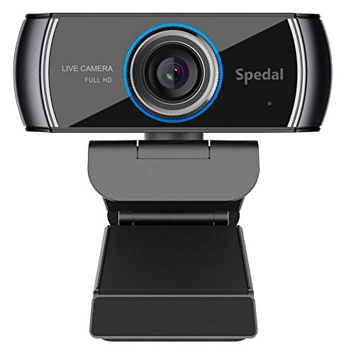 Webcam 1080P HD with Microphone: USB Webcam Plug and Play, for Streaming, Gaming, Run on Skype, YouTube, Zoom, Facetime, Team, OBS and Conferencing